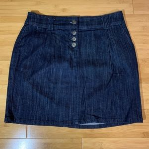 New York & Company Midi Denim Skirt Sz 2